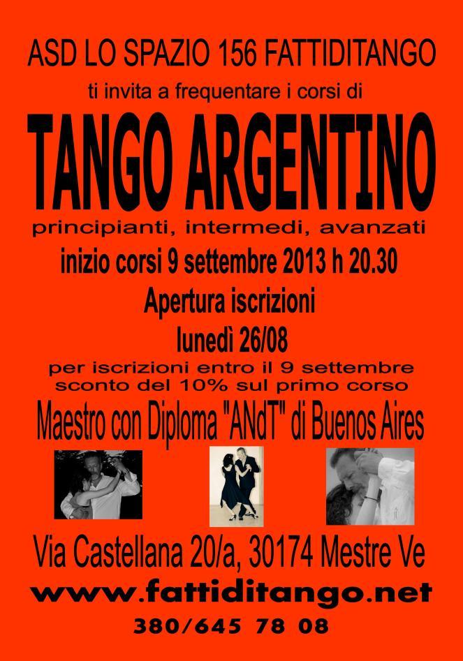 Nuovi corsi di tango argentino Fattiditango