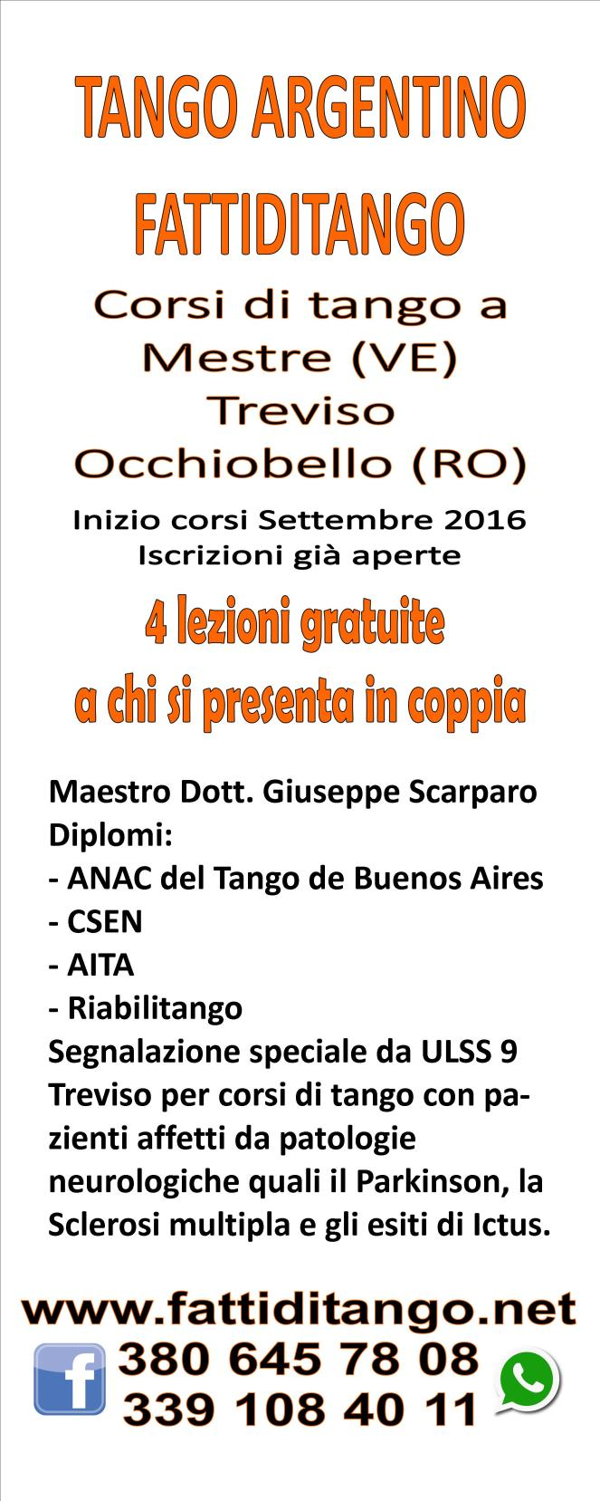 Corsi di tango argentino Mestre Treviso Occhiobello Fattiditango